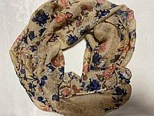 Хлопковый снуд  шарф в лёгкой жатке ширина 40 см
