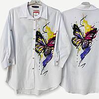 Рубашка женская белая Angaje батал 21-1006