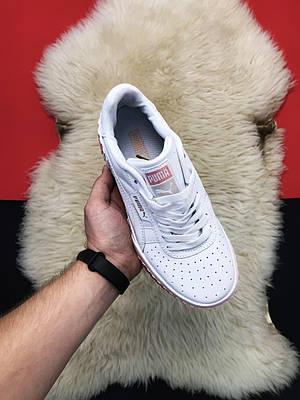 Женские Puma Cali, белого цвета, кроссовки Пума Кали, женская обувь весна/лето 37