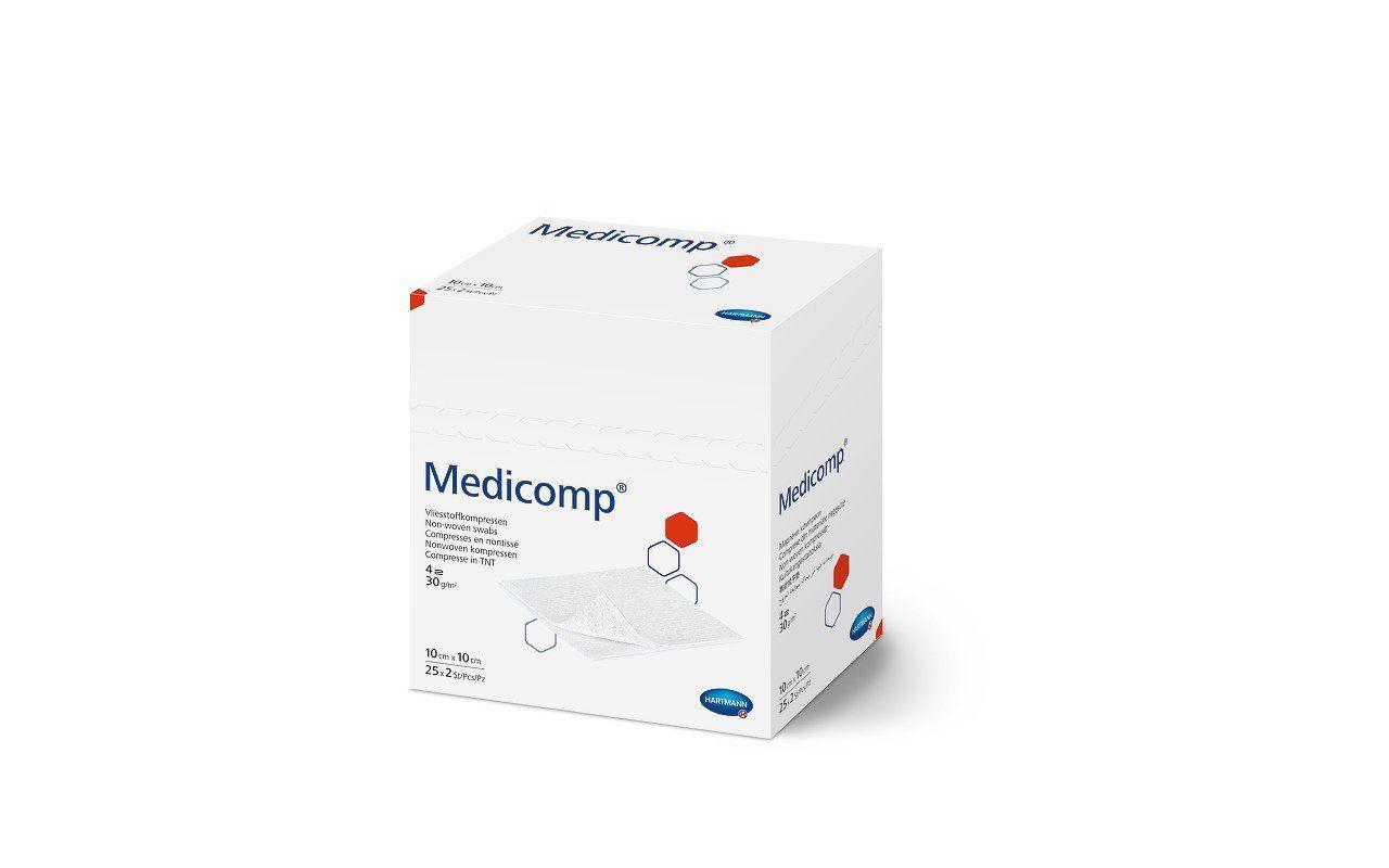 Medicomp 7,5 х 7,5 см - салфетки из нетканого материала стерильные 2х25шт