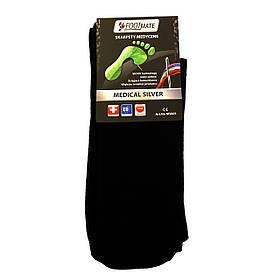 Диабетические носки с серебром FootMate Medical Silver, черные L - 42/44