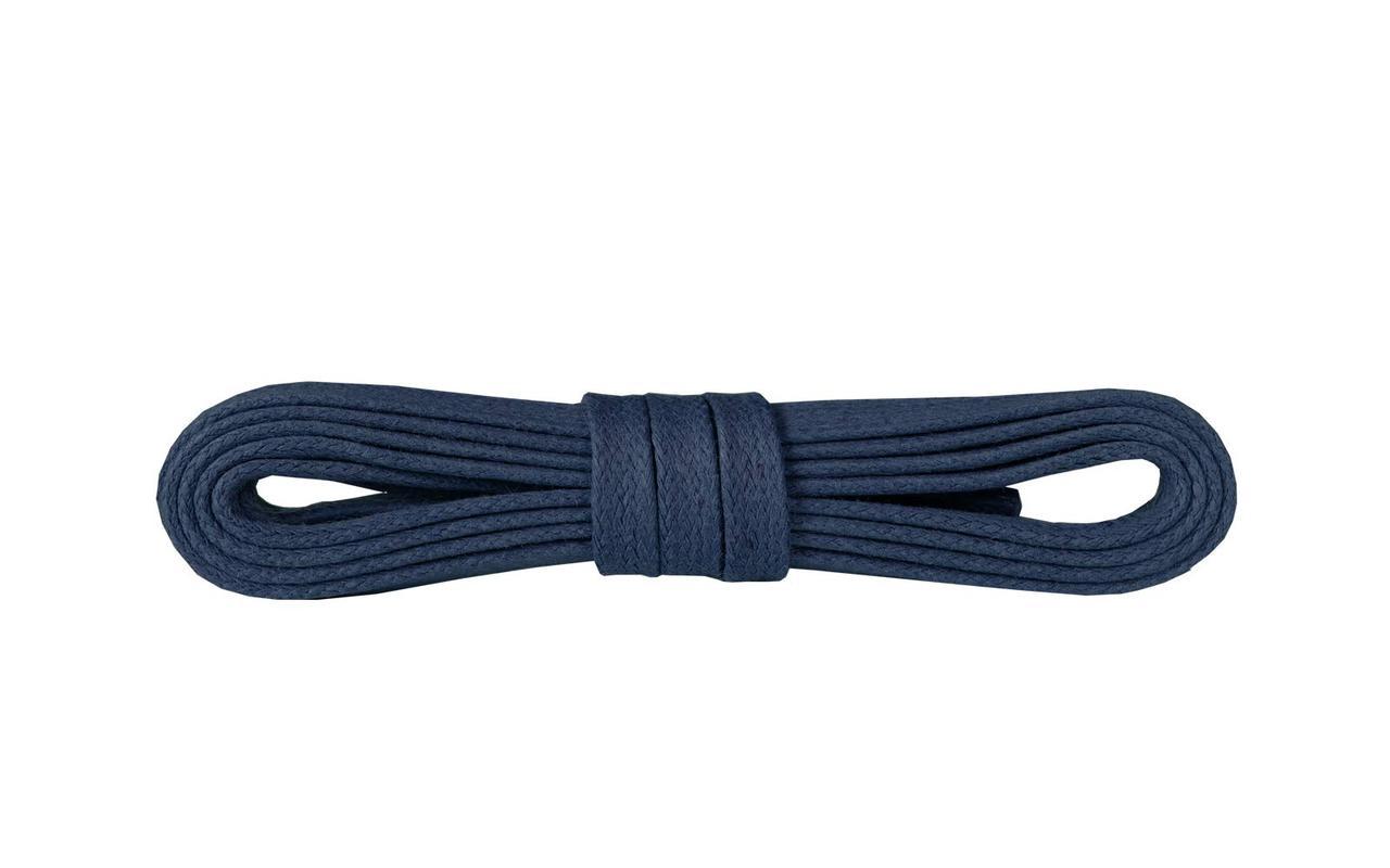 Шнурки для взуття Kaps вощені плоски 90 см, кольори в асортименті Темно Синій