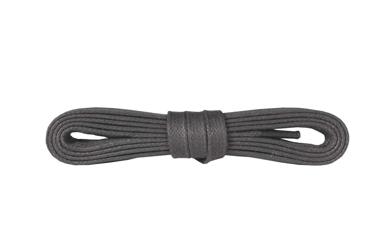 Шнурки для взуття Kaps вощені плоски 90 см, кольори в асортименті Темно Сірий