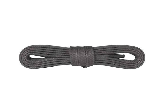 Шнурки для взуття Kaps вощені плоски 90 см, кольори в асортименті Темно Сірий, фото 2