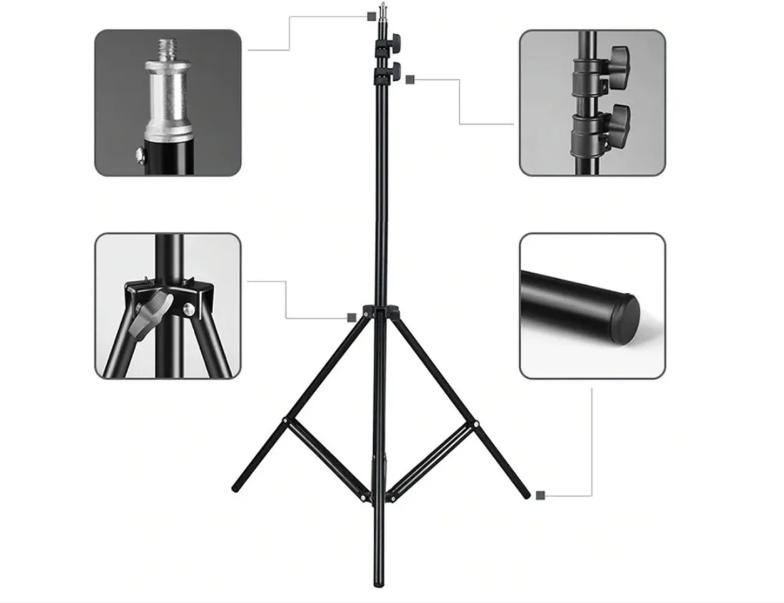 Штатив,трипод 2.10 м для кільцевої лампи,фотоапарата,телефону