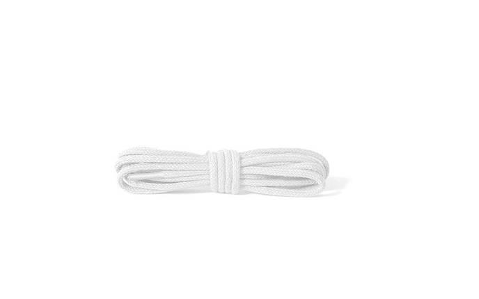 Шнурки для обуви Kaps тонкие  2 мм, круглые 45 см, цвета в ассортименте 450, Белый, фото 2