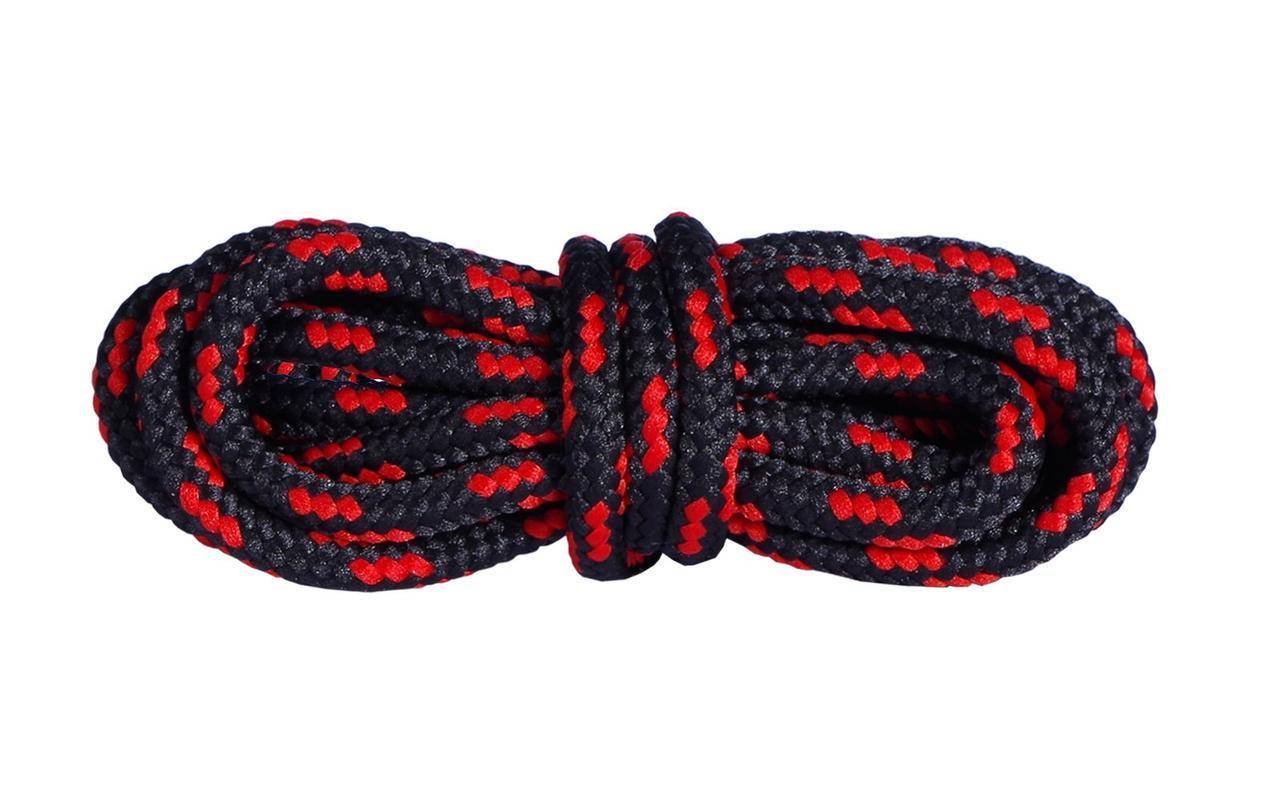 Шнурки для взуття Mountval Laces 180 см, кольори в асортименті Чорно-червоний