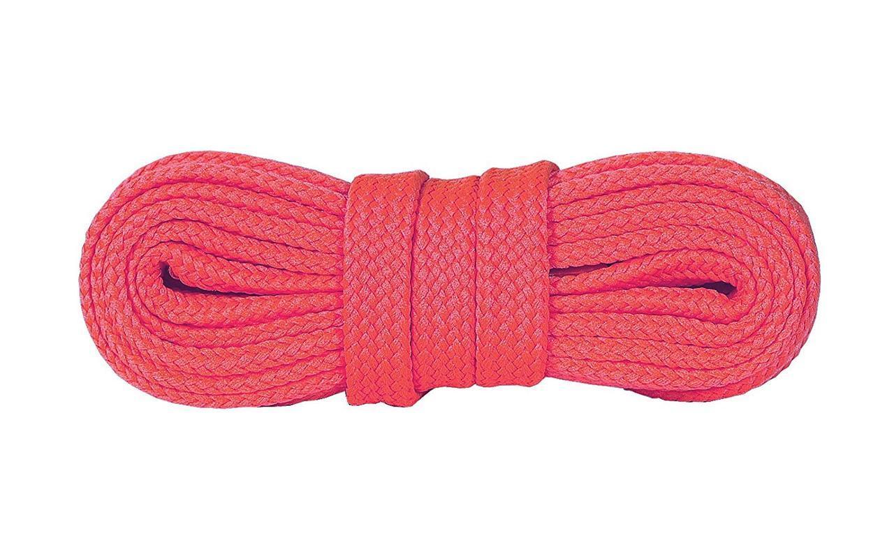 Шнурки для взуття плоскі Kaps Sneakers Laces 100 см, кольори в асортименті 1000, Рожевий Флуоресцентний