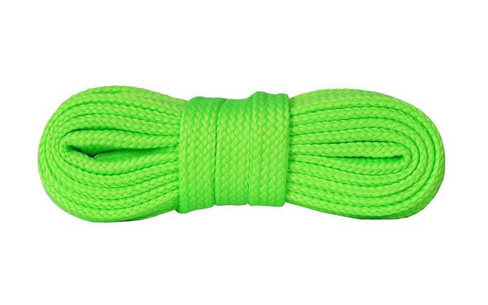 Шнурки для взуття плоскі Kaps Sneakers Laces 100 см, кольори в асортименті 1000, Зелений Флуоресцентний, фото 2