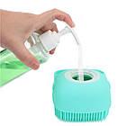 ОПТ Силиконовая массажная щётка для тела с дозатором для мыла Silicone Massage Bath Brush уход за телом, фото 4