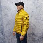 Чоловіча демісезонна куртка Vavalon kd-2009. Чоловіча стьобана куртка жовтого кольору., фото 2