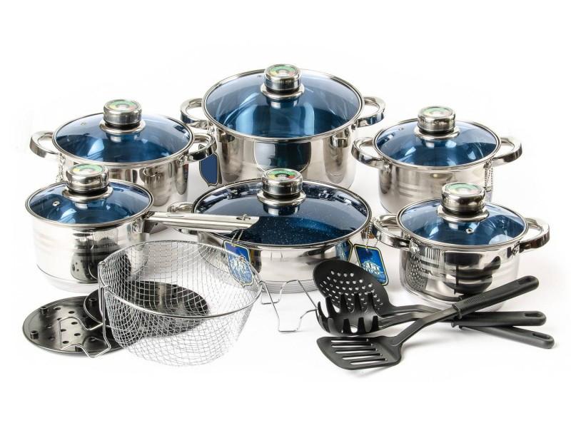 Набор посуды из нержавеющей стали 18 предметов Grand Berg GB 2021
