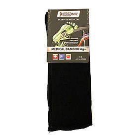 Диабетические носки с серебром FootMate Medical Bamboo AG+, черные L - 42/44