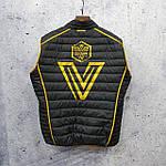 Чоловіча демісезонна куртка Vavalon kd-2009. Чоловіча стьобана куртка жовтого кольору., фото 4