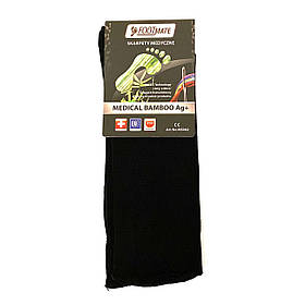 Диабетические носки с серебром FootMate Medical Bamboo AG+, черные M - 39/41