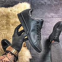 Кроссовки мужские Adidas Stan Smith, черного цвета, Адидас Стен Смит, мужская обувь весна /лето/осень 2021