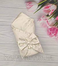 Дитячий демісезонний конверт на виписку, конверт-ковдру (ВЕСНА/ ЛІТО), конверт-ковдру для новонародженого, фото 2