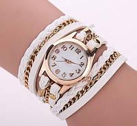 Женские часы-браслет. Белые