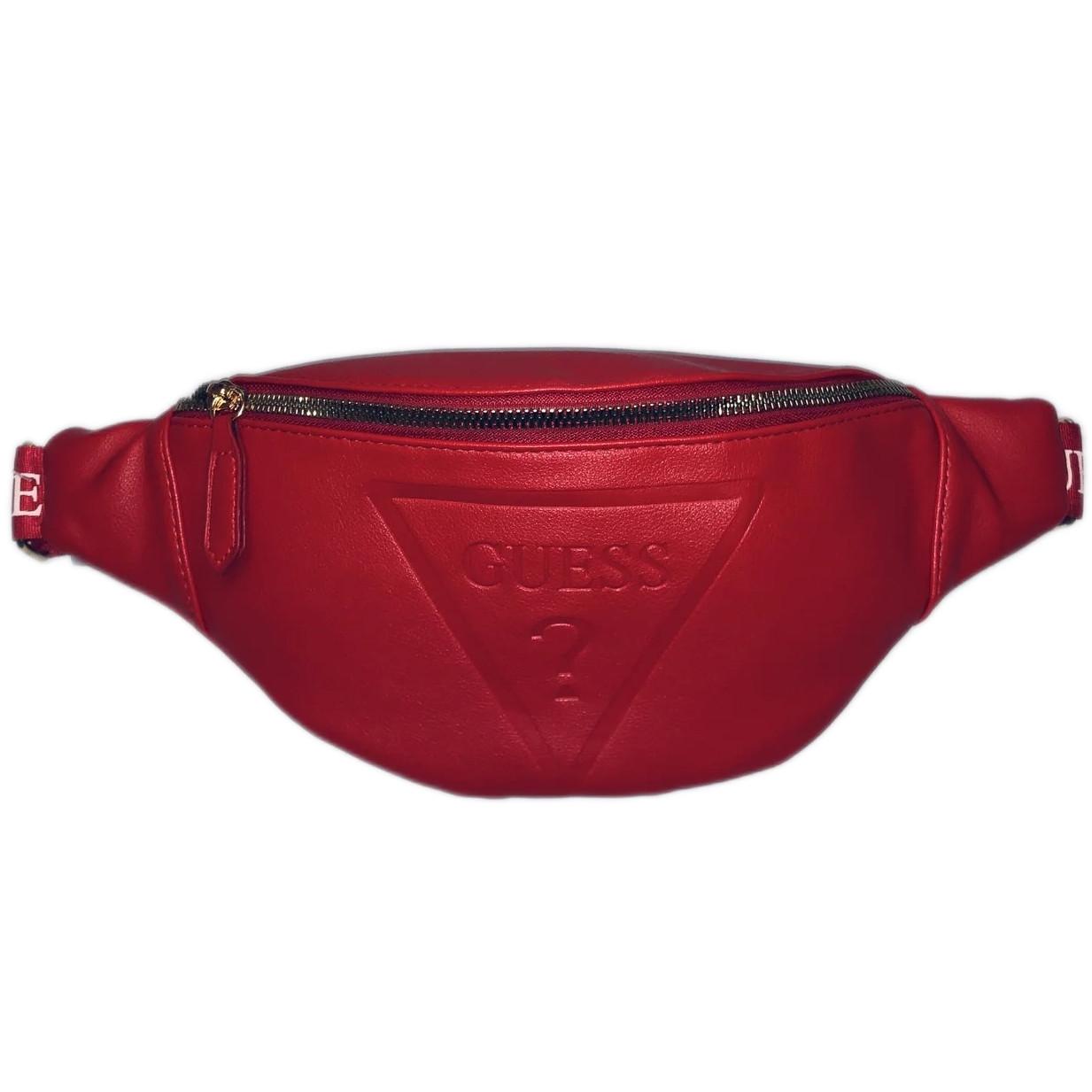 Женская бананка GUESS 067 поясная сумка красная