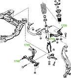 17-45 Сайлентблок важеля переднього нижнього задній посилений Mazda 6 (GH) 2007-2012; GS1D34350G; GS1D34300G, фото 4
