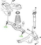 17-55 Сайлентблок заднего рычага под пружину наружный Mazda CX-7 (ER) 2006-2012; EG2128300, фото 3