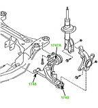 17-49 Пыльник шаровой опоры Mazda CX-7 (ER) 2006-2012, CX-9 TB 2006-2015, MPV LY 2006-2016; EH4434300, фото 3