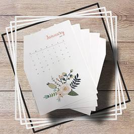 Печать календарей, фотоальбомов для новорожденных, наклеек, листовок и другая полиграфия