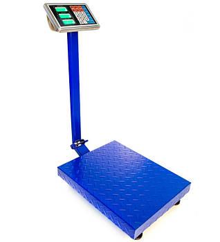 Торговые напольные весы до 150 кг усиленные 30 х 40 см. FOLD 6v c железной головой и памятью, электронные весы