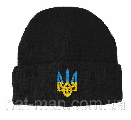 Трикотажна шапка з тризубом