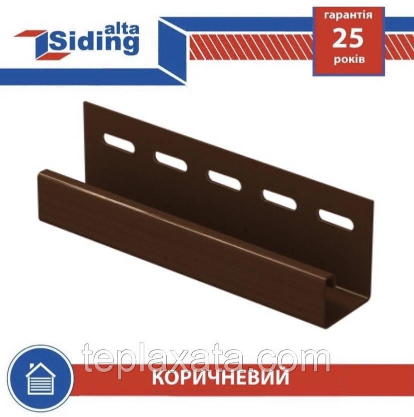 Сайдинг АЛЬТА ПРОФИЛЬ Профиль J-trim коричневый 3,66 метра