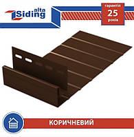 Сайдинг АЛЬТА ПРОФІЛЬ J-фаска коричнева, 3,66 метра