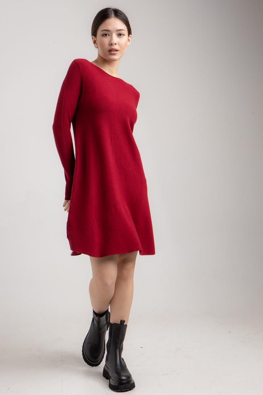 Трикотажне жіноче плаття вільного крою до коліна в 3 кольорах в універсальному розмірі