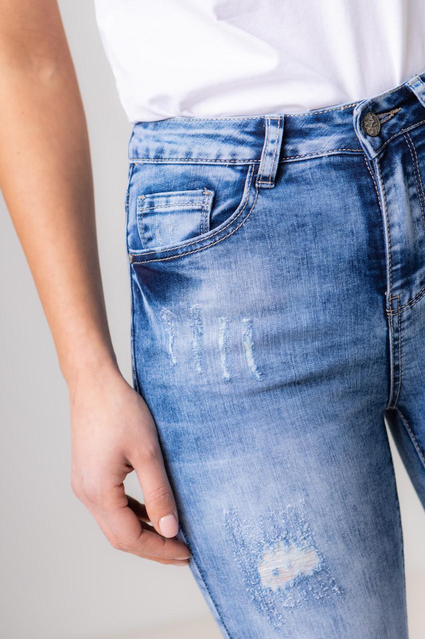 Приталенные джинсы варенки со средней  посадкой в размерах: S, M, L, XL.
