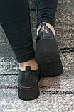 Женские черные туфли на шнурках на высокой подошве., фото 6