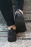 Жіночі чорні туфлі на шнурках на високій підошві., фото 6