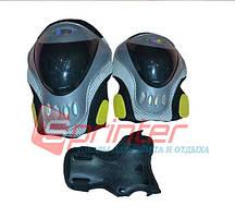 Защита роликовая с голограммой (наколенники + налакотники + защита кисти). Цвет - чёрный.