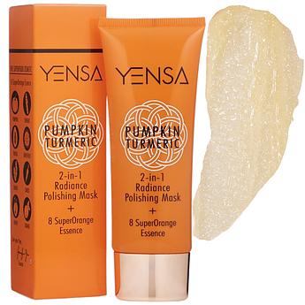 Маска для эксфолиации и сияния кожи Yensa Pumpkin Turmeric 2-in-1 Radiance Polishing Mask 70 г