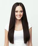 Волосся на заколках 50 см. Колір #02 Темно-Коричневий, фото 4