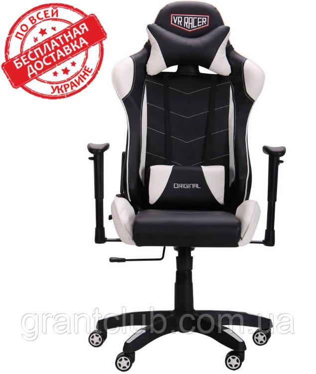 Крісло VR Racer Blade чорний/білий (безкоштовна адресна доставка)