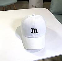 Дитяча кепка Бейсболка M&m's (Эмемдемс) з гнутим козирком Біла, Унісекс