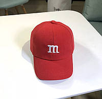 Дитяча кепка Бейсболка M&m's (Эмемдемс) з гнутим козирком Червона, Унісекс