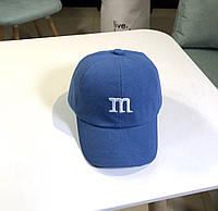 Дитяча кепка Бейсболка M&m's (Эмемдемс) з гнутим козирком Синя, Унісекс