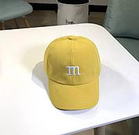 Дитяча кепка Бейсболка M&m's (Эмемдемс) з гнутим козирком Жовта, Унісекс
