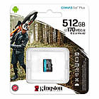 Картка пам'яті MicroSDXC 512GB UHS-I/U3 Class 10 Kingston Canvas Go! Plus R170/W90MB/s (SDCG3/512GBSP), фото 3
