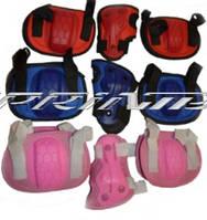 Защита роликовая (наколенники + налакотники + защита кисти)красный,синий,жёлтые,розовый.