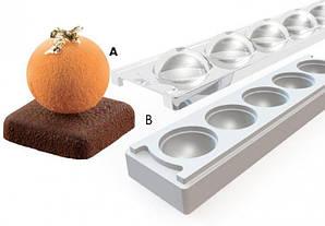 """Форма для выпечки силиконовая для пирожен """"Шар"""" Silikomart (с крышкой и подставкой, d 48 мм, 58 мл)"""