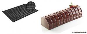 """Набор форма силиконовая + силиконовый коврик для декора """"TABLETTE"""" 250x90 мм, h 70 мм"""