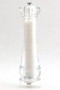 Мельница для соли 25 см. пластиковая, прозрачная (механизм керамика) Perugia, Bisetti