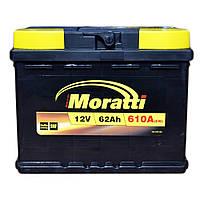 Автомобильный аккумулятор MORATTI 6ct-62a3L, фото 1