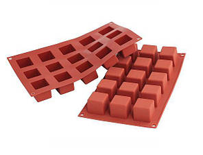 "Форма для выпечки силиконовая ""Куб"" 3,5х3,5х3,5 см Silikomart"